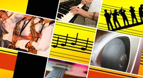 musical tło Zdjęcie Stock