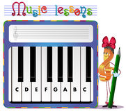 Musical tasks Stock Images