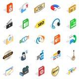 Musical taste icons set, isometric style. Musical taste icons set. Isometric set of 25 musical taste vector icons for web isolated on white background Royalty Free Stock Images
