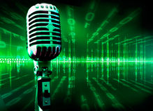 Musical technology background Royalty Free Stock Image