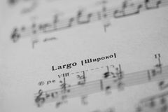 Musical tempo Stock Images
