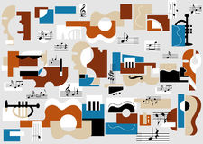 Musical and theatre abstract stock illustration
