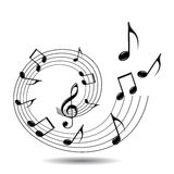 Musical theme Royalty Free Stock Image