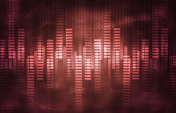 Musical theme background Royalty Free Stock Image