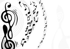 Musical theme background. vector Royalty Free Stock Photos