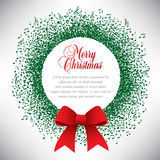 Musical theme Christmas wreath Royalty Free Stock Photo