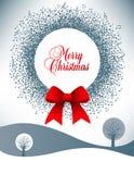 Musical theme Christmas wreath Stock Photos