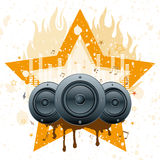 Musical theme illustration Stock Photo