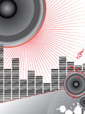 Musical theme with loudspeakers Royalty Free Stock Photos