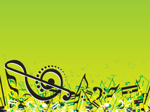 Musical Themed on green vector illustration Royalty Free Stock Images