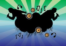 Musical_themes_02 royalty free illustration
