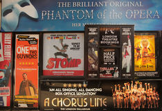 Musical tickets. Front of a shop selling discounted tickets to London musicals, Leicester Square, London Royalty Free Stock Photography
