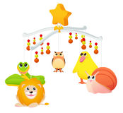 Musical toy with animals Stock Photos