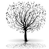 Musical tree Royalty Free Stock Photo