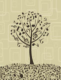 Musical tree4 Royalty Free Stock Photography