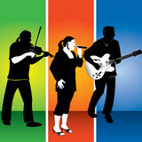 Musical trio illustration Stock Photography