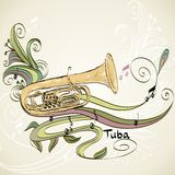 Musical tuba Stock Image