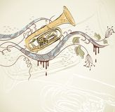 Musical tuba Stock Images