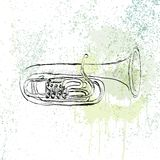 Musical tuba Royalty Free Stock Photos