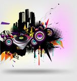 Musical and urban vector royalty free illustration