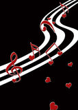 Musical Valentine Print Stock Photo