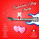 Musical Valentine's Day background Royalty Free Stock Image