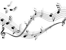 Musical vector. On white background Royalty Free Stock Photography
