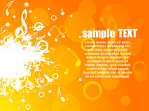 Musical vector background Stock Photos