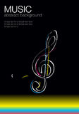 Musical vector template -1. Colorful musical vector template on a black background vector illustration