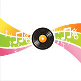 Musical Vinyl Record Background Stock Image