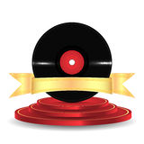 Musical vinyl record Royalty Free Stock Photography