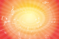 Musical Vortex. Musical wallpaper bakcground with a spinning white vortex in the middle Royalty Free Stock Photos