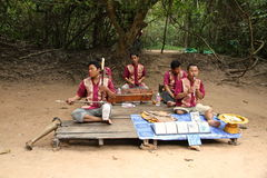 Cambodian Musicians Royalty Free Stock Image
