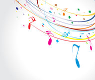 Musical wave line of musical notes Stock Image