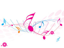 Musical wave of musical notes. A Musical wave of musical notes Royalty Free Stock Photo