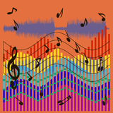 Musical waves background Stock Photography