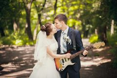 Musical wedding royalty free stock photo