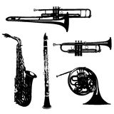 Musical wind instruments Royalty Free Stock Photos