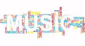Musical words Royalty Free Stock Image