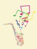 musical zauważa saksofon ilustracji