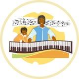 Musicale il-imparando dal supervisore Immagini Stock Libere da Diritti