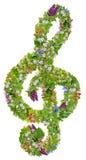 Musicalu zielony Wielkanocny clef zdjęcia royalty free