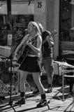 musican唱歌的街道 库存图片