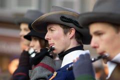 Musicans bei Carnaval von Escalade Stockfoto