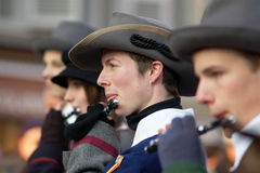 Musicans a Carnaval di Escalade Fotografia Stock
