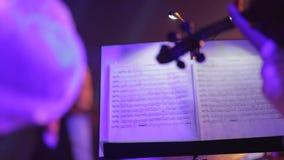 Musicant spelar fiolen arkivfilmer
