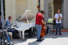 Musicants de Munchen Photographie stock