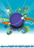 MusicDiscoBackGround. Music/Audio/Disco/party invitation background -  vector Illustration Royalty Free Stock Photography