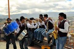 Musici die in La Fiesta DE La Mama Negra spelen Stock Fotografie