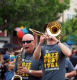 Musici in Edmonton Alberta Pride Parade Royalty-vrije Stock Foto